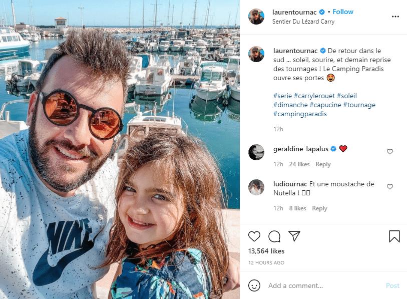 Laurent Ournac et sa fille