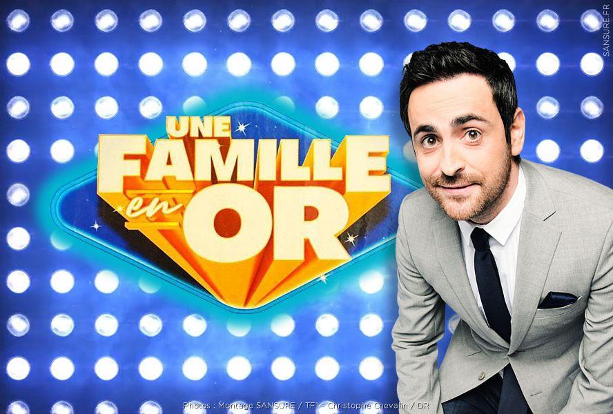 Camille Combal l'animateur de l'émission Une Famille en Or