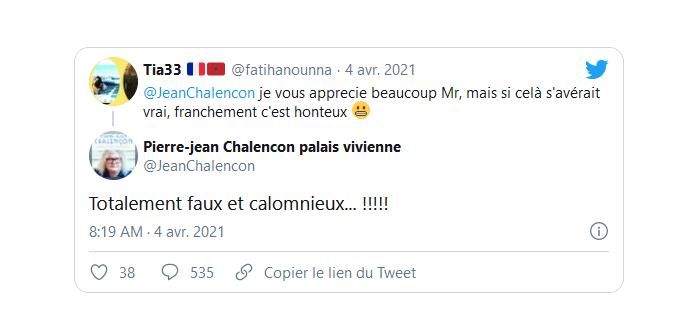 """Pierre-Jean Chalençon : """"Totalement faux et calomnieux"""""""