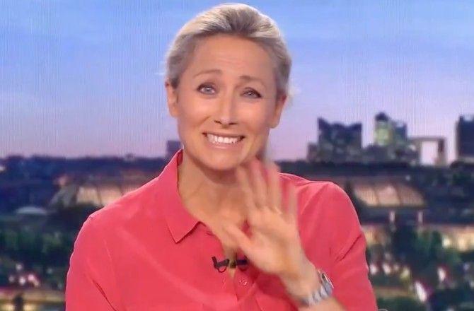 Anne-Sophie Lapix. Victime d'un fou rire en direct sur le JT de 20 Heures
