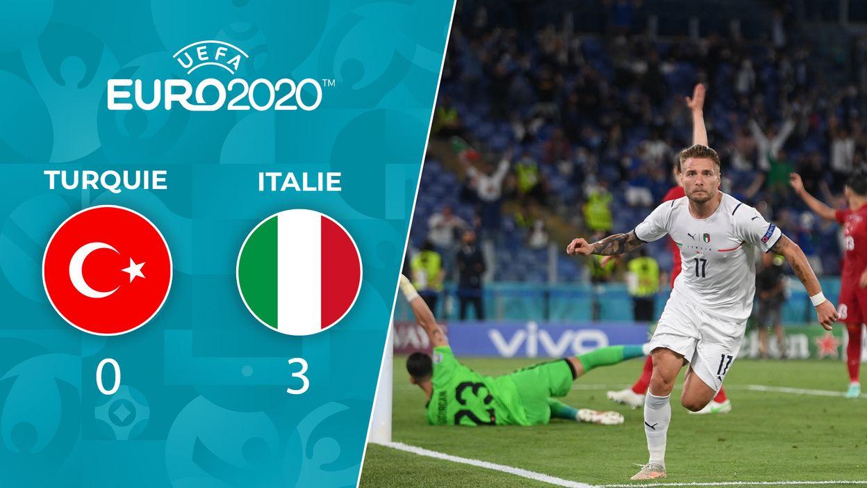 Italie 3-0 Turquie : la Nazionale a déroulé son jeu dans la deuxième période.