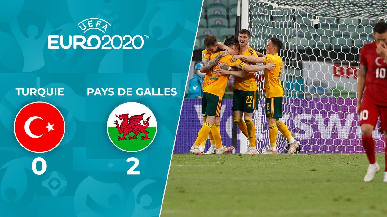 Pays de Galles 2-0 Turquie. Ramsey, marque sur une belle ouverture