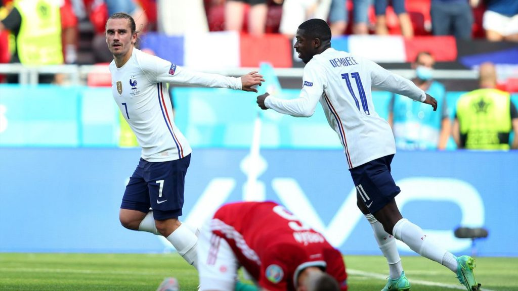 Griezmann égalise (66ème) Hongrie 1-1 France.