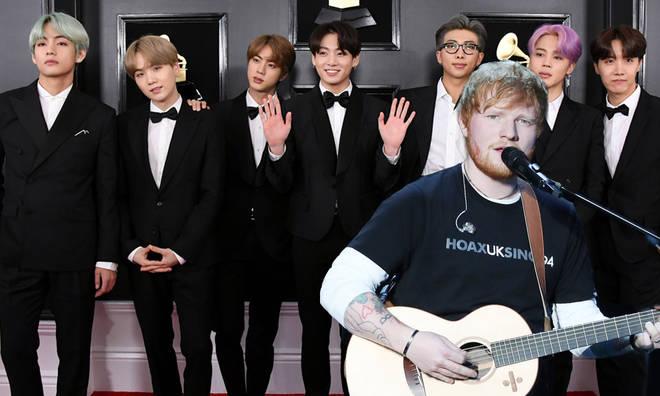 Ed Sheeran annonce sa collaboration avec le groupe BTS