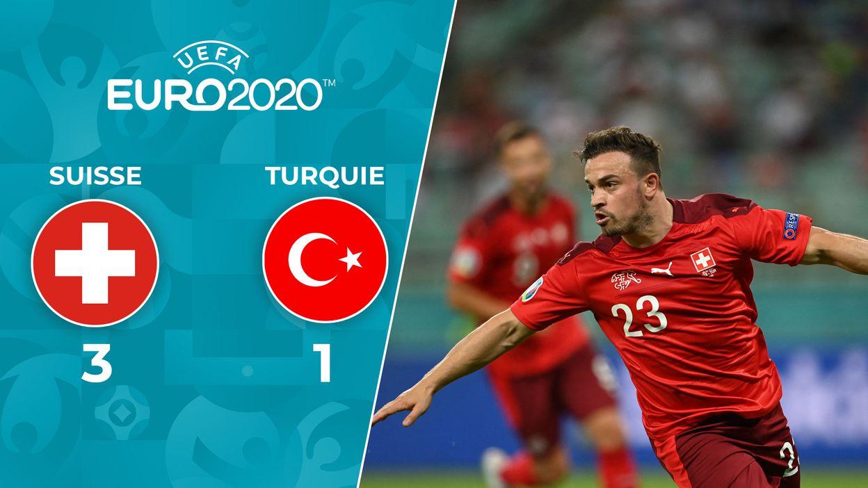 Suisse 3-1 Turquie : La Turquie sort par la petite porte