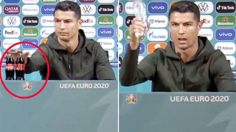 Cristiano Ronaldo. Son geste a fait chuter Coca-Cola en Bourse !