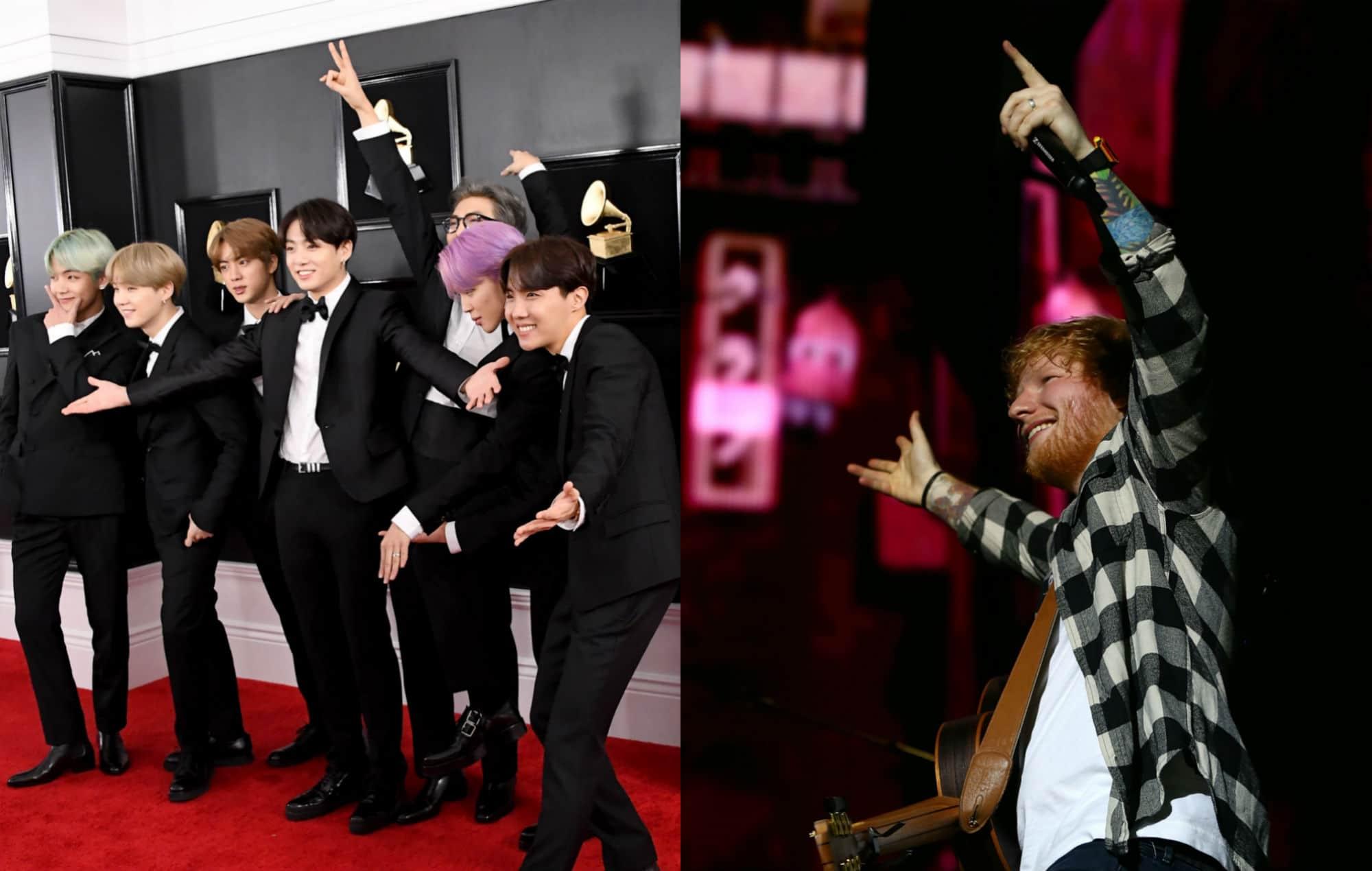 Ed Sheeran. Le chanteur annonce sa collaboration avec le groupe BTS