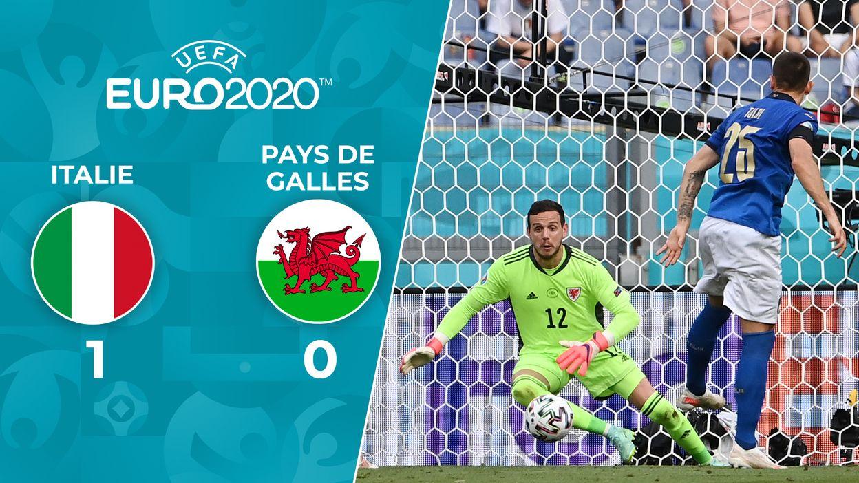 Italie 1-0 Pays de Galles : L'Italie gagne tous ses matchs!