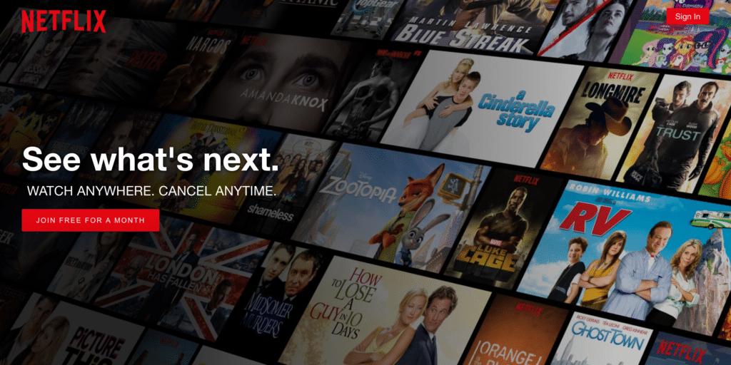 Le géant du streaming, Netflix !