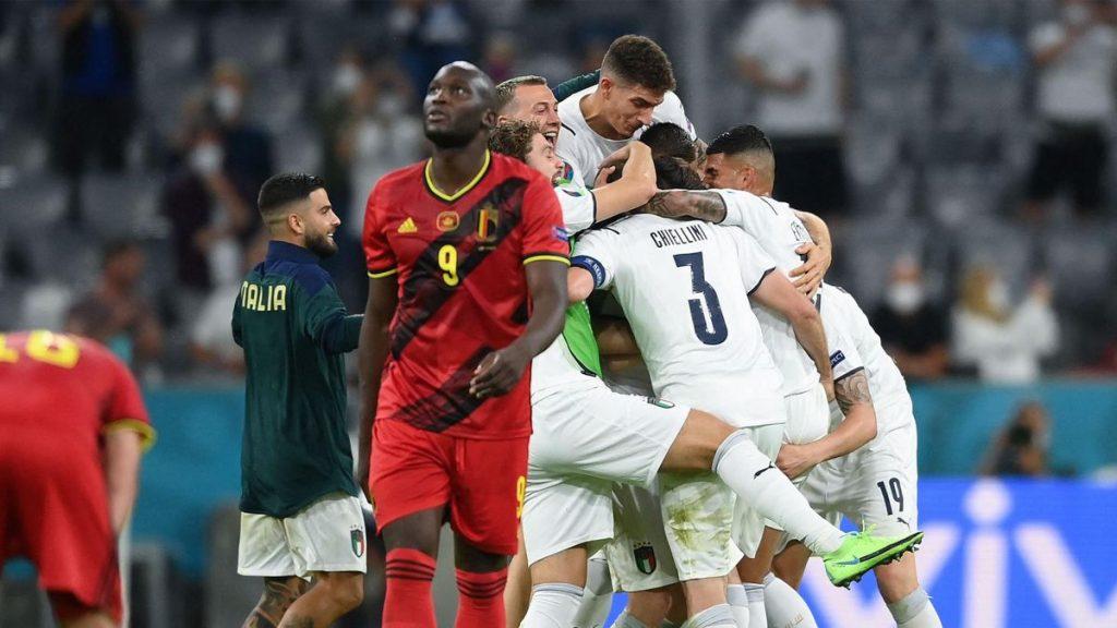 Belgium 1-2 Italy :