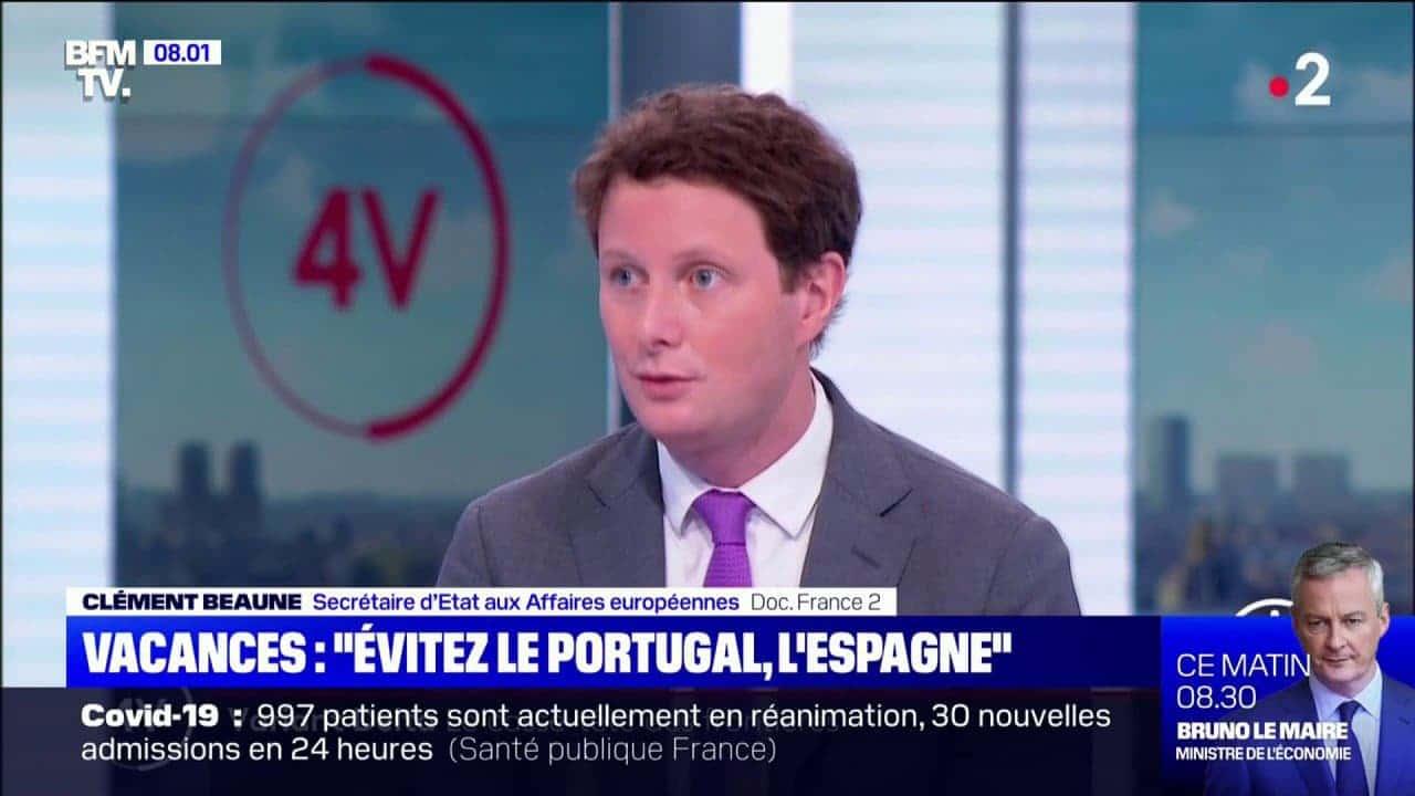 """Vacances : """"Évitez l'Espagne et le Portugal"""", conseille Clément Beaune"""