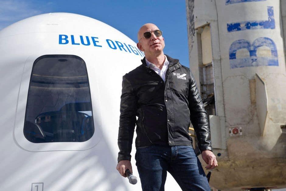 Jeff Bezos s'envole dans l'espace