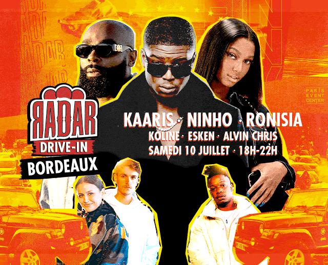 Ninho, Kaaris et Ronisia à la deuxième édition du RADAR Drive in !