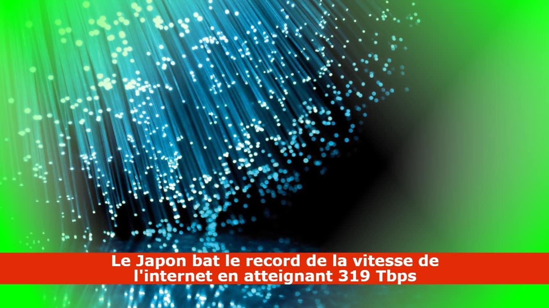Le Japon bat son propre record de vitesse internet !