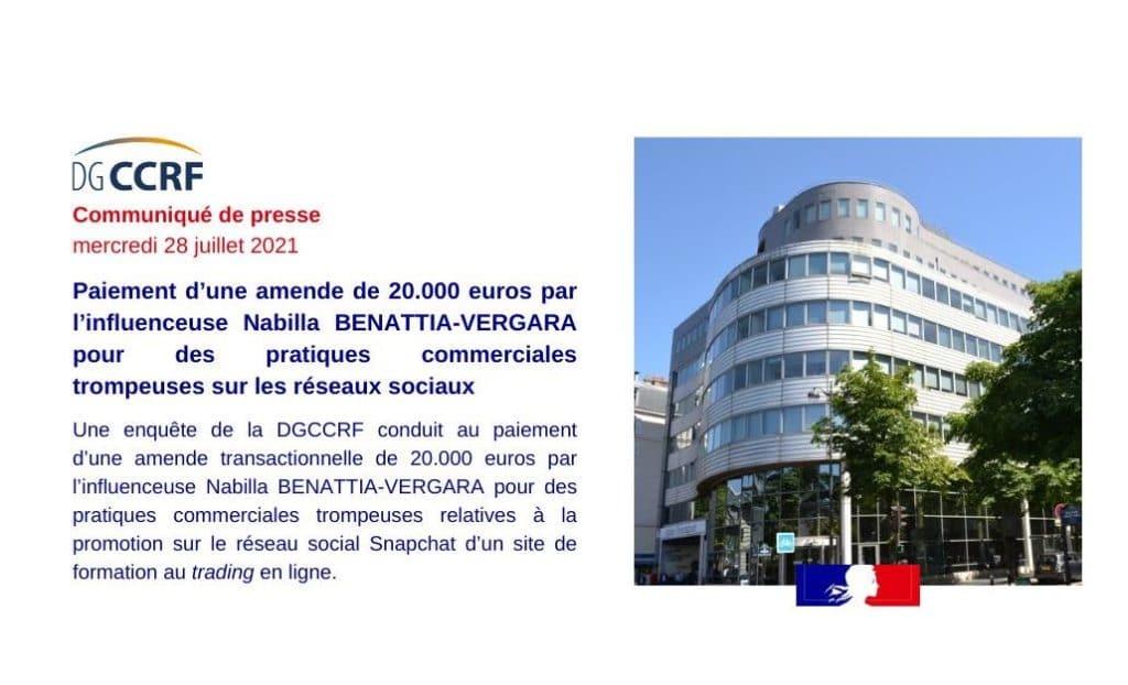 Un communiqué de la DGCCRF !