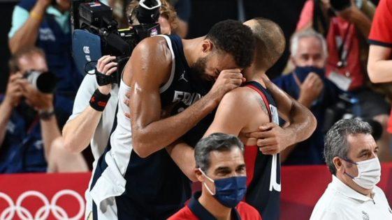 Rudy Gobert. Le basketteur en larmes après la défaite de la France aux JO