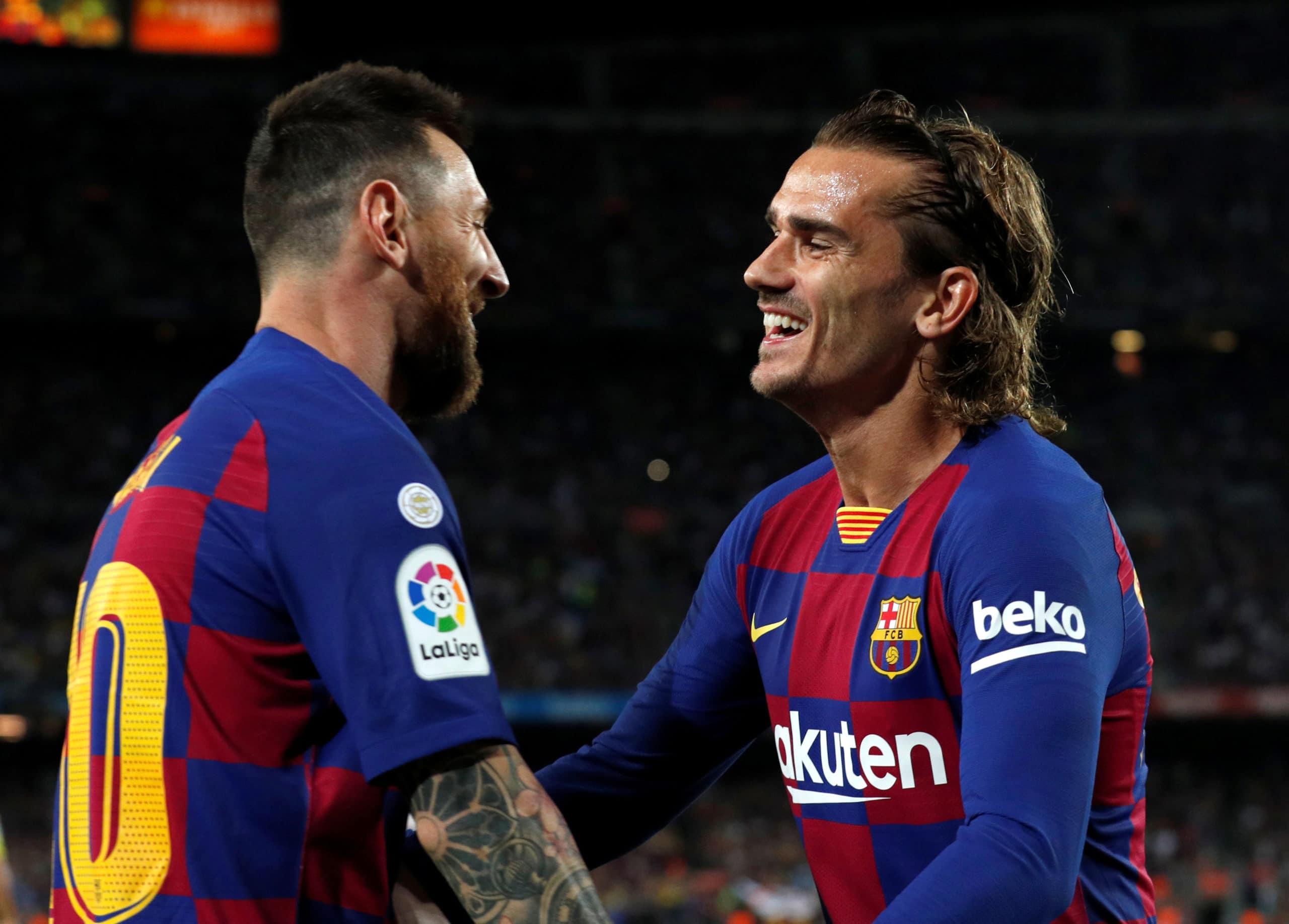 Antoine Griezmann. Le joueur rend hommage à la légende Leo Messi