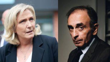 """Marine Le Pen : """"Si Zemmour se présente, il peut faire gagner Macron"""""""