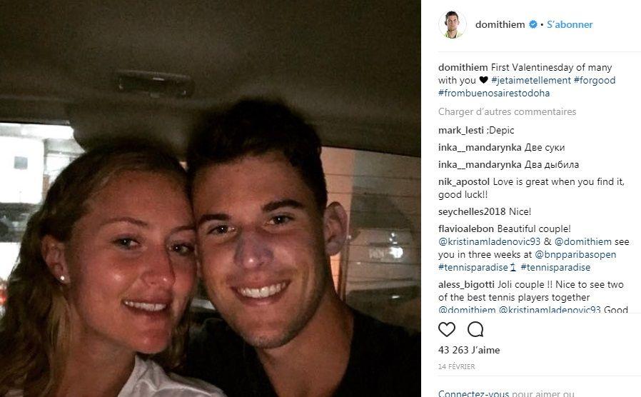 Kristina Mladenovic et Autrichien Dominic Thiem sont-ils toujours ensemble?