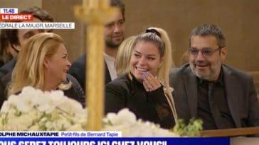 Bernard Tapie : Sa fille Sophie prise d'un fou rire dans l'église !