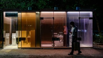 toilettes transparentes tokyo