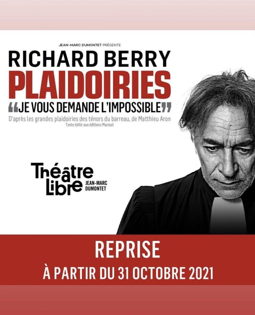 'Plaidoiries', une nouvelle pièce au Théâtre Libre à partir du 31 octobre